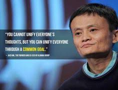Jack MA quote on common goals