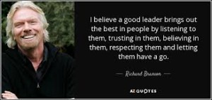 Richard BRANSON quote on leaders
